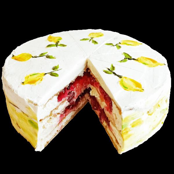 Наполеон - Торт Лимонно-клюквенный